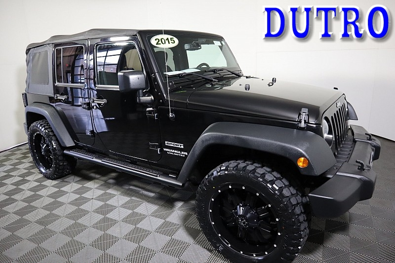 Used 2015  Jeep Wrangler Unlimited 4d Convertible Sport at Graham Auto Mall near Mansfield, OH